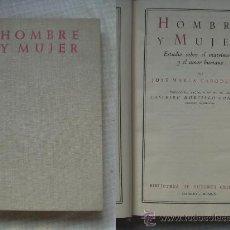 Libros de segunda mano: JOSE MARIA CABODEVILLA - HOMBRE Y MUJER (ESTUDIO SOBRE EL MATRIMONIO Y EL AMOR HUMANO). Lote 12678985