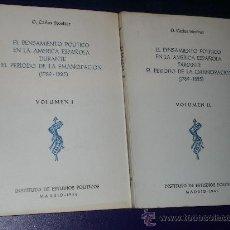 Libros de segunda mano: EL PENSAMIENTO POLÍTICO EN LA AMÉRICA ESPAÑOLA DURANTE EL PERÍODO DE LA EMANCIPACIÓN (1789-1825) . Lote 17251074