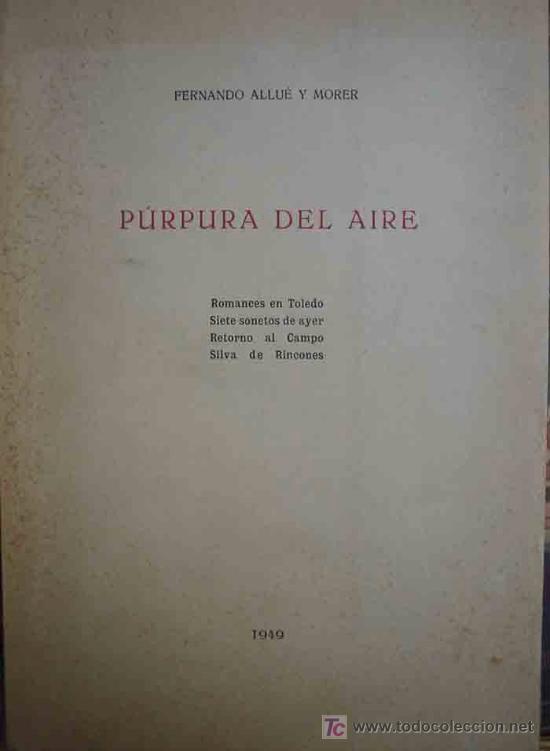 Resultado de imagen de purpura del aire 1949