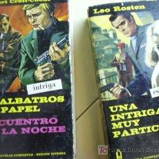 Libros de segunda mano: LOTE DE 2 LIBROS ( 3 NOVELAS), EDICIÓN INTRIGA AÑO 1968 Y 1969, EDICIONES G.P. . Lote 26715267