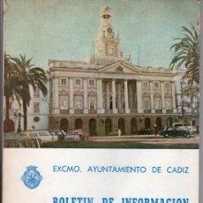 Libros de segunda mano: BOLETIN DE INFORMACION MUNICIPAL AYUNTAMIENTO DE CADIZ. 1º TRIMESTRE 1972. Lote 14751415