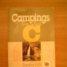 Libros de segunda mano: LIBRO CAMPINGS GUIA OFICIAL -ESPAÑA 2001. Lote 13431801
