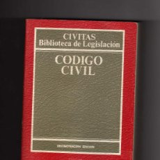 Libros de segunda mano: CÓDIGO CIVIL POR JOSÉ ANTONIO PAJARES GIMÉNEZ - 13ª EDICIÓN 1990 EDITORIAL CIVITAS - 616 PÁGINAS. Lote 13435679