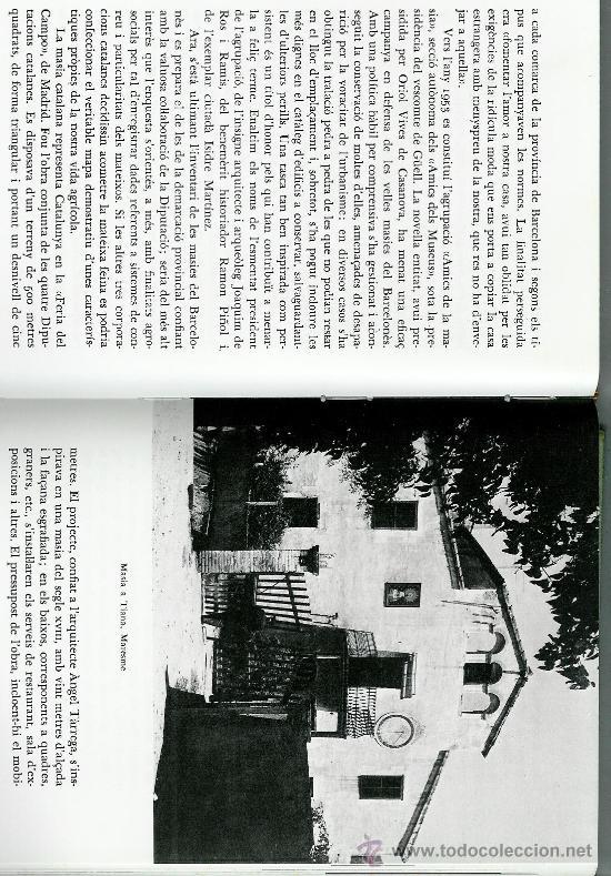 MASIA CATALANA, LA. HISTÒRIA, ARQUITECTURA, SOCIOLOGIA.(CAMPS I ARBOIX, JOAQUIM DE) (Libros de Segunda Mano - Historia - Otros)