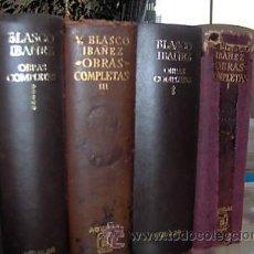 Libros de segunda mano: V.BLASCO IBAÑEZ.OBRAS COMPLETAS AGUILAR EN PIEL TOMOS I - II - III - V . Lote 15616746