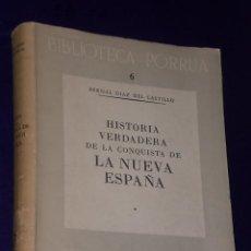 Libros de segunda mano: HISTORIA VERDADERA DE LA CONQUISTA DE LA NUEVA ESPAÑA.(TOMO I). Lote 13724892