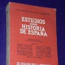 Libros de segunda mano: ESTUDIOS SOBRE HISTORIA DE ESPAÑA . Lote 27253762