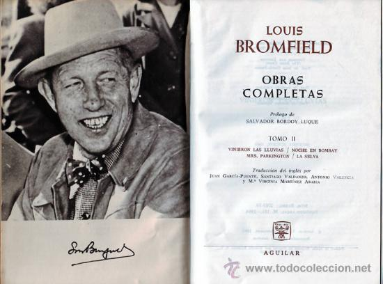 LOUIS BROMFIELD OBRAS COMPLETAS TOMO II (Libros de Segunda Mano (posteriores a 1936) - Literatura - Otros)