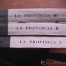 Libros de segunda mano: LA PROVINCIA, TRES TOMOS, INSTITUTO DE CIENCIAS SOCIALES, BARCELONA, 1966. Lote 20616989