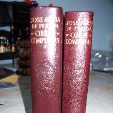 Libros de segunda mano: JOSÉ MARIA PEREDA 2TOMOS O.COMPLETAS ED. AGUILAR O.ETERNAS.. Lote 26584077