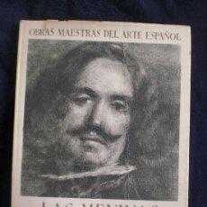Libros de segunda mano: LAS MENINASY SUS PERSONAJES. FCO.J.SANCHEZ CANTON. EDITORIAL JUVENTUD. 1943 33 PAG.24 LAMINAS. Lote 13932240