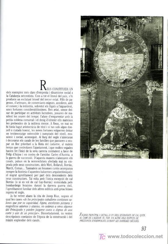 Libros de segunda mano: URBANISME I ARQUITECTURA DE REUS PERE ANGUERA LA CAIXA 1988 - Foto 2 - 26987916