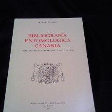 Libros de segunda mano: BIBLIIOGRAFIA ENTOMOLOGICA CANARIA.ANTONIO MACHADO.INSTITUTO ESTUDIOS CANARIOS 1987. Lote 24798409