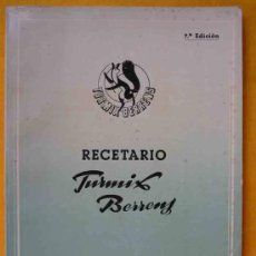 Libros de segunda mano: RECETARIO TURMIX BERRENS. . Lote 14074744