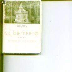 Libros de segunda mano: EL CRITERIO .JAIME BALMES.EDICIONES IBERICAS. Lote 14162195