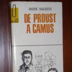 Libros de segunda mano: TRILOGÍA SOBRE ESCRITORES FRANCESES DEL SIGLO XX 3T POR ANDRÉ MAUROIS, GP BARCELONA 1967-1969. Lote 25349583