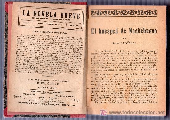 Libros de segunda mano: ENCUADERNACION DE LA NOVELA BREVE, REVISTA SEMANAL AÑO II Nº 46 AL Nº 61. DIRECTOR EUSEBIO HERAS - Foto 2 - 14351953