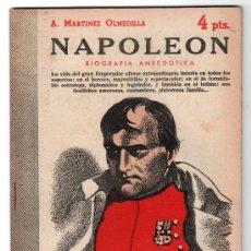 Libros de segunda mano: REVISTA LITERARIA NOVELAS Y CUENTOS Nº 1199. NAPOLEON POR A. MARTINEZ OLMEDILLA.MADRID 1954. Lote 14538376