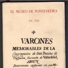 Libros de segunda mano: MUSEO DE PONTEVEDRA XX - XXI. ARTES GARFICAS PORTELA EDICION LIMITADA 500 EJEMPLARES.PONTEVEDRA 1966. Lote 18157933