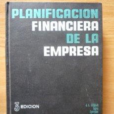 Livres d'occasion: PLANIFICACIÓN FINANCIERA DE LA EMPRESA. 3ª EDICION. Lote 14669866