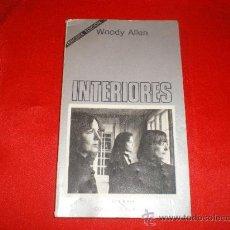 Libros de segunda mano: INTERIORES. WOODY ALLEN. CINE. Lote 22761510