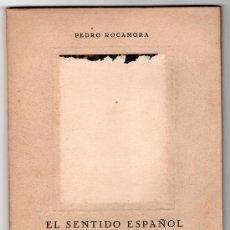 Libros de segunda mano: EL SENTIDO ESPAÑOL DE LA MUERTE EN EL GRECO POR PEDRO ROCAMORA. IMP. SAMARAN. MADRID 1949. Lote 14831341