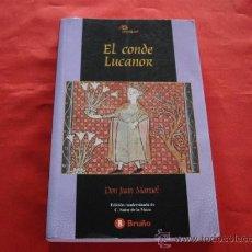 Libros de segunda mano: EL CONDE LUCANOR. DON JUAN MANUEL. CLASICOS MEDIEVALES. Lote 23880834