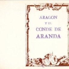 Libros de segunda mano: ARAGÓN Y EL CONDE ARANDA + APORTACIÓN BIBLIOGRÁFICA DE LA BIBLIOTECA UNIVERSITARIA. Lote 15005414