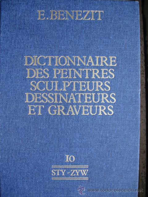 BENEZIT.DICTIONNAIRE DES PEINTRES SCULPTEURS DESSINATEURS ET GRAVEURS.1976.TOMO 10.STY-ZYW.972 PG (Libros de Segunda Mano - Bellas artes, ocio y coleccionismo - Otros)