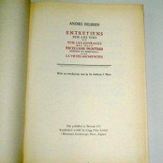 Libros de segunda mano: ENTRETIENS SUR LES VIES ... DES EXCELLENTS PEINTRES ..., POR ANDRE FELIBIEN. FACSÍMIL. Lote 15154007