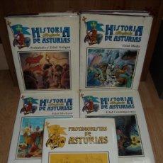 Libros de segunda mano: HISTORIA DIBUJADA DE ASTURIAS 5T (COMPLETA) POR CARLOS MARÍA DE LUIS DE AYALGA EN SALINAS 1987. Lote 92049609