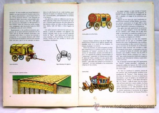 Libros de segunda mano: Los medios de locomoción Francisco Pérez Manuel García Col Descubrir y conocer Mas Ivars Ed 1973 - Foto 3 - 15193125