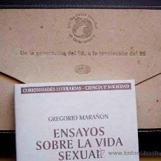 Libros de segunda mano: ENSAYOS SOBRE LA VIDA SEXUAL /GREGORIO MARAÑON.FACSÍMIL 4ª EDICIÓN,1969.ESTUCHE, EXCELENTE PRESENTAC. Lote 22253452