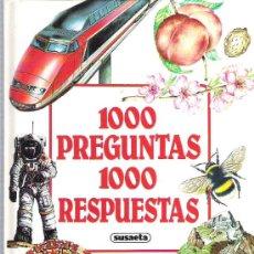 Libros de segunda mano: 1000 PREGUNTAS 1000 RESPUESTAS ** EDIC SUAETA *** ESTILO PLESA ****. Lote 17522834