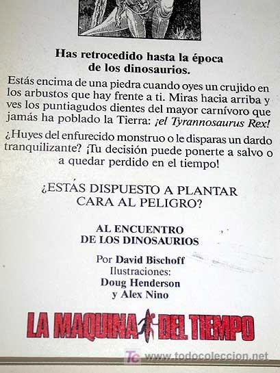 Libros de segunda mano: LA MAQUINA DEL TIEMPO Nº 2 AL ENCUENTRO DE LOS DINOSAURIOS. BISCHOFF, NIÑO. LIBRO JUEGO TIMUN MAS ++ - Foto 3 - 206961928