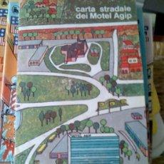 Libros de segunda mano: CARTA STRADALE DEI MOTEI AGIP- MAPA DE ITALIA COMPLETO- APERTURA DEL CENTRO TURÍSTICO1967. Lote 26637975