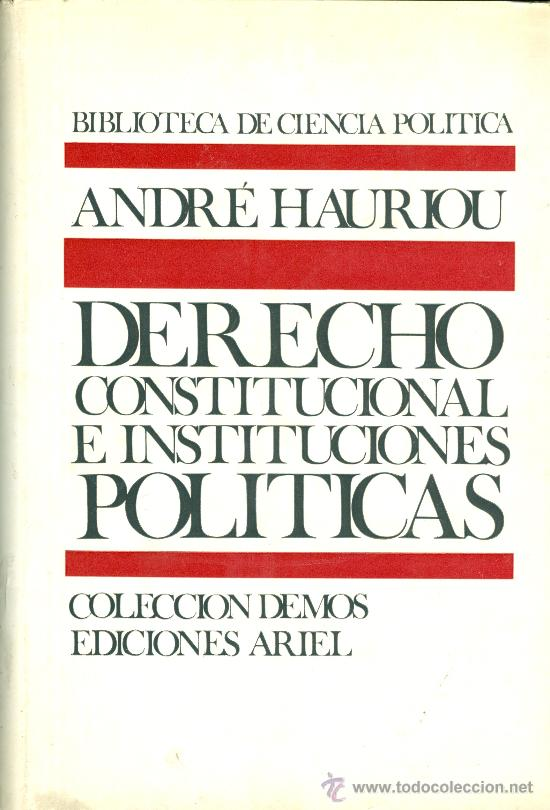 Andr hauriou derecho constitucional e institu comprar en todocoleccion 26443955 - Libreria segunda mano online ...
