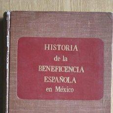 Libros de segunda mano: HISTORIA DE LA BENEFICENCIA ESPAÑOLA EN MÉXICO. (SÍNTESIS). LORENZO LAGUARTA (PABLO). Lote 15731582