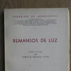 Libros de segunda mano: REMANSOS DE LUZ. MENDIZÁBAL (FEDERICO DE). Lote 15830477