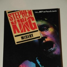 Libros de segunda mano: MISERY. STEPHEN KING. PLAZA JANÉS. Lote 26313807