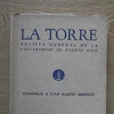 Libros de segunda mano: LA TORRE. REVISTA GENERAL DE LA UNIVERSIDAD DE PUERTO RICO. HOMENAJE A MIGUEL DE UNAMUNO. . Lote 21990169
