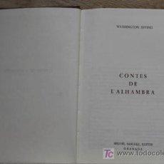 Libros de segunda mano: CONTES DE L'ALHAMBRA. IRVING (WASHINGTON). Lote 15921340