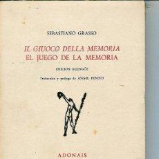 Libros de segunda mano: GIUOCO DELLA MEMORIA, IL . EL JUEGO DE LA MEMORIA (GRASSO, SEBASTIANO). Lote 26408958