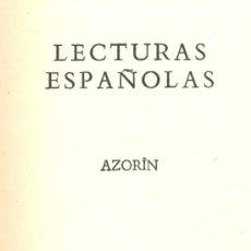 Libros de segunda mano: AZORIN. LECTURAS ESPAÑOLAS. EDIMBURGO (ESCOCIA), C. 1924. Lote 16026988