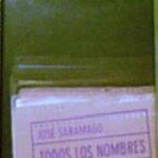 Libros de segunda mano: TODOS LOS NOMBRES - JOSÉ SARAMAGO (CÍRCULO DE LECTORES - TAPA DURA CON SOBRECUBIERTA). Lote 25634452