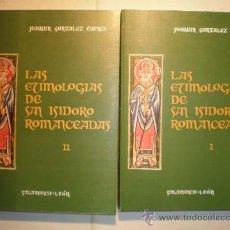 Libros de segunda mano: LAS ETIMOLOGÍAS DE SAN ISIDORO ROMANCEADAS. (2 VOLÚMENES).. Lote 27508082