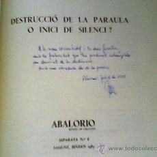 Libros de segunda mano: LIBRO DE ALICANTE RAFAEL CATALÁ EJEMPLAR 48 , DE 100 LA EDICION DIBUJOS DE M.BELLVER. Lote 17270283