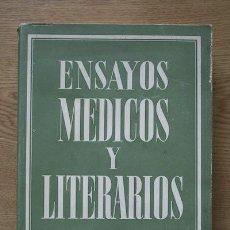 Libros de segunda mano: ENSAYOS MÉDICOS Y LITERARIOS. ANTOLOGÍA. MARCO MERENCIANO (FRANCISCO). Lote 16159289