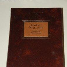 Libros de segunda mano: ASI HABLO ZARATHUSTRA. FRIEDRICH NIETZSCHE.PLANETA AGOSTINI.. Lote 27612572