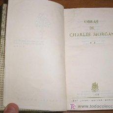 Libros de segunda mano: OBRAS DE CHARLES MORGAN. VOL. II. ED. JANES EDITOR.1958 . Lote 21201288